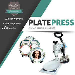 Nv app Plate 4 Sublimation Diameter Plate Heat Press