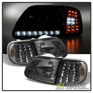 Smoked 1997 2003 Ford F150 Expedition Led Strip Drl Headlights led Corner Lights