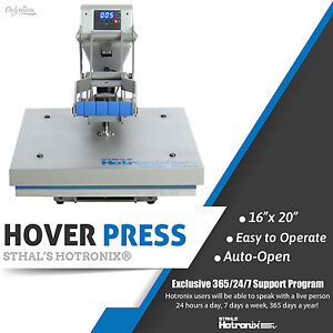 Stahls Hotronix 16 X 20 Hover Heat Press Free Shipping