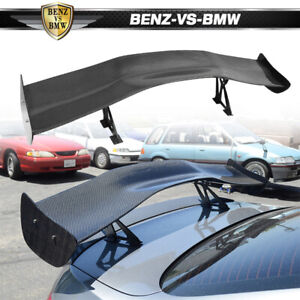 Universal 57 Inch 3d Carbon Fiber Cf Rear Gt Trunk Spoiler Wing Adjustable Deck