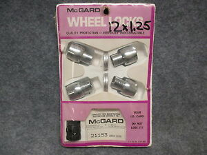 Nos Mcgard Wheel Locks Locking Lug Nuts 21153 Datsun Subaru Aluminum Wheel 24762