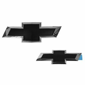 Oem Bowtie Emblem Chrome Black Kit Pair Set Of 2 For Chevy Tahoe Suburban New
