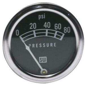 Stewart Warner 82208 Std 2 1 16 In Oil Pressure Gauge Mech 0 80 Psi