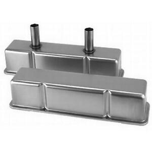 Speedway Sbc Chevy 350 Circle Dirt Track Tall Valve Covers W Br