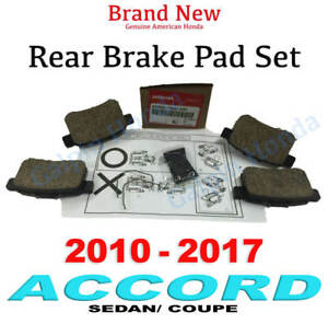 2010 2017 Honda Accord Sedan Coupe Genuine Factory Oem Rear Brake Pad Set