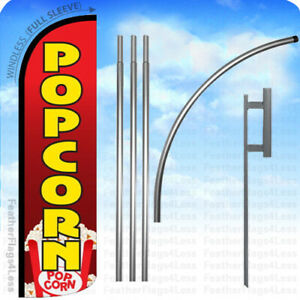 Popcorn Windless Swooper Flag 15 Kit Feather Banner Sign Rq