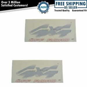 Oem 4x4 Off Road Bed Decal Red Silver Pair Set Of 2 For Ford Pickup Truck New