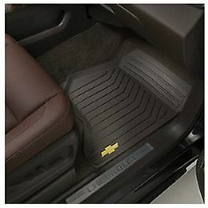 2015 Suburban Tahoe Front 2nd 3rd Row All Weather Rubber Floor Mats Black Oem