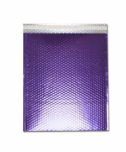 Metallic Glamour Bubble Mailers Envelope Bags 7 X 6 75 Purple 250 Case