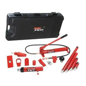 19 Pc Blackhawk 10 Ton Porto Power Hydraulic Body Repair Kit With Case B65115