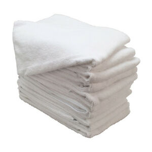 96 New White Microfiber Towels New Cleaning Cloths Bulk 12x12 Manufacturers Sale