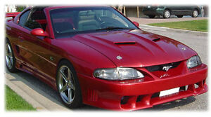 Ford Mustang 1994 98 Saleen S2k Style Urethane Front Bumper Body Kit Free Mesh
