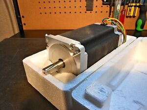 Nema 34 Stepper Motor 1700oz In 5a 7 5mh Inductance 14mm Single Shaft