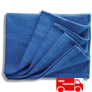48 New Blue Glass Cleaning Shop Towel huck Towels Janitorial Lint Free 15 x25