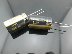 10 Japan Panasonic Fm 6800uf 6 3v 6800mfd Impedance Electrolytic Capacitors