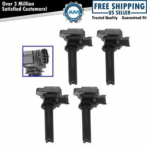 Ignition Coil Pack Kit Set Of 4 For 03 11 Saab 9 3 2 0l Turbo