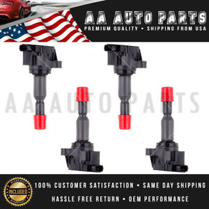 Uf581 For Honda Fit 1 5l Ignition Coil 2007 2008 Pack Of 4 Premium C1578