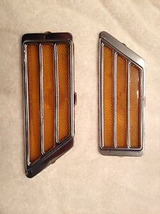 Vintage 1970 Riviera Front Side Markers Pair Lh Rh