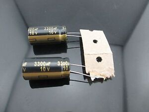 10 Japan Panasonic Fm 3300uf 10v 3300mfd Impedance Electrolytic Capacitors