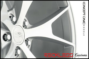 20 Concept One Csm5 Concave Staggered Wheels Rim Silver Fits Nissan Maxima