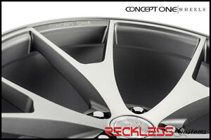 20 Concept One Csm5 Concave Staggered Wheels Rim Gunmetal Fits Ford Mustang
