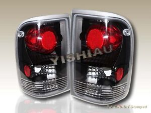 93 94 95 96 97 Ford Ranger Altezza Tail Lights Taillight Black