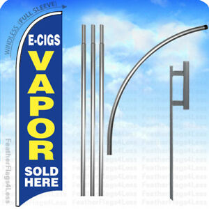 E cigs Vapor Sold Here Windless Swooper Feather Banner Sign Flag 15 Kit Bb