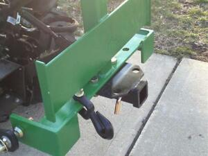 Cat 1 Sub compact Tractor Hitch Receiver Weight Bracket For 3 Pt Hitch Green