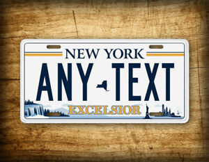 New York Excelsior Personalized License Plate Any Text Customized Ny Auto Tag
