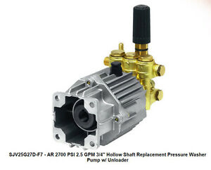 Pressure Washer Pump Ar Sjv25g27d f7 2 5 Gpm 2700 Psi 3 4 Shaft