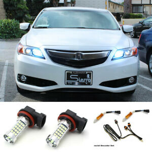 Ice Blue 9005 Led Bulbs High Beam Daytime Running Light Drl Kit For Acura Honda
