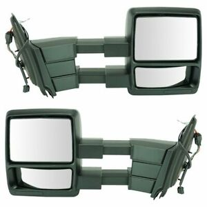 Power Heated Puddle Light Dual Arm Towing Mirror Pair For Expedition Navigator