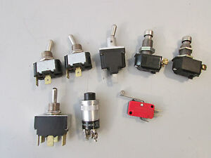 Micro Switch Cutler Hammer Toggle And Push Button Lot Of 8 Parts