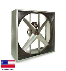 Exhaust Fan Industrial Belt Drive 48 230 460v 1 Hp 3 Ph 20600 Cfm