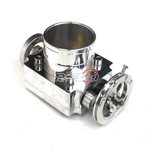 Universal Performance 65mm Intake T6 Aluminum Throttle Body Cnc W Adapter Plate