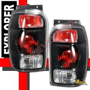1998 2001 Ford Explorer Mercury Mountaineer Carbon Tail Lights Lamps Rh Lh