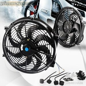 14 Universal 14 Slim Pull Push Racing Electric Radiator Engine Cooling Fan