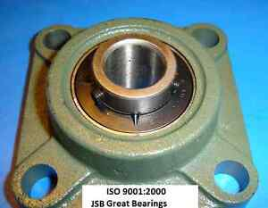 qty 10 7 8 Ucf205 14 Quality Square Flanged Ucf 205 14 Pillow Bearing Ucf205