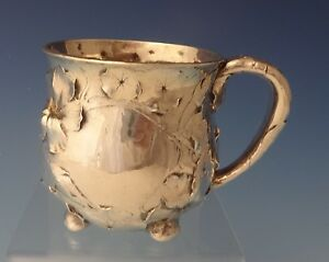 Martele By Gorham Sterling Silver Baby Child S Cup Floral Motif 0119