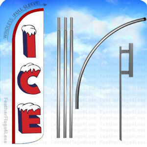 Ice Windless Swooper Flag 15 Kit Feather Banner Sign Wz