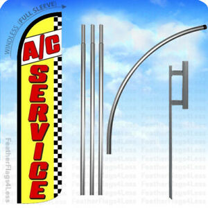 A c Service Windless Swooper Flag 15 Kit Feather Banner Sign Yz