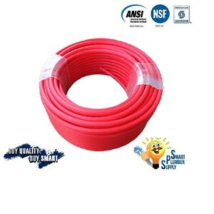 3 4 X 300 Ft Red Pex Tubing For Water Supply With 25 Years Warranty