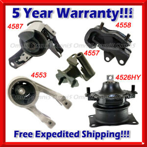 K299 Fit 2007 Honda Odyssey Ex Lx 3 5l Vtec Engine Motor Trans Mount Set 5pc
