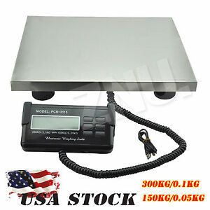 High Quality 150 300kg Digital Heavy Duty Platform Scale Lcd Display Screen Sale
