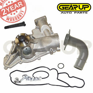 Premium Water Pump Aw4114 Fit 96 03 Ford E F Series V8 7 3l Powerstroke Diesel