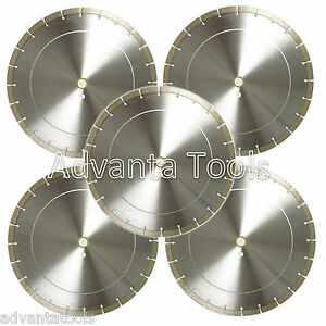 5pk 14 Diamond Saw Blades For Brick Block Concrete Masonry Pavers Stone 12mm