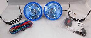 Universal Car Truck Suv Halogen Fog Lights Kit Set Pair Wiring Harness Hid Ready
