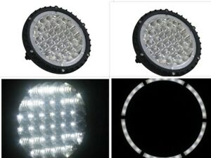 Pair 7 Off Road Truck Driving Fog Lights 4x4 7 Inch 96w 6080lm Led Cree