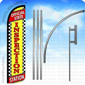 Official State Inspection Station Windless Swooper Flag Sign 15 Kit Yz