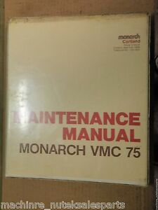 Monarch Cortland Maintenance Manual Vmc 75_mnt75m 27_mnt75m27